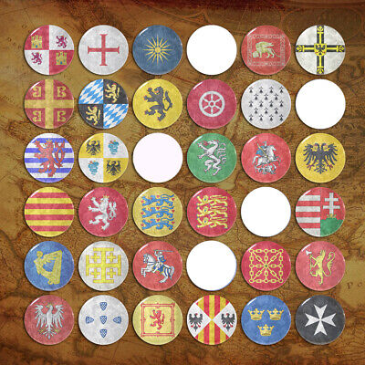 Middle Ages Coat of Arms Pin Badge Flag Badge Ancient Emblem Button Tin 58mm