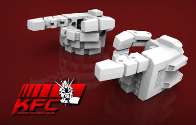 Kfc Kp-09 Posable Hands For Mp-24 Masterpiece Star Saber White