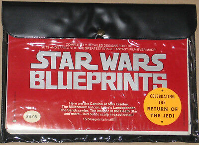 Warehouse Find 1978 Star Wars Original Blueprint Set-15 Sheets in Pouch-UNUSED