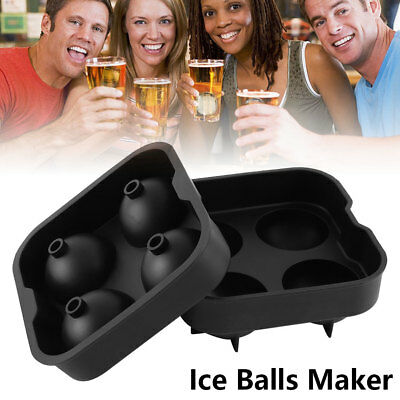 ICE Balls Maker Round Sphere Bandeja Mold Cube Whisky Ball Cocktails Silicona