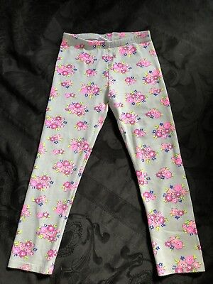 Jumping beans Girls leggings size 5 Gray With Flowers Pants