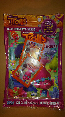 TOPPS - TROLLS (Stickers) STARTER PACK FRENCH EDITION