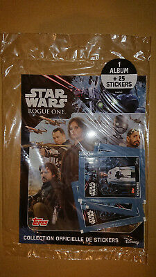 TOPPS - STAR WARS - ROGUE ONE (Stickers) STARTER PACK FRENCH EDITION