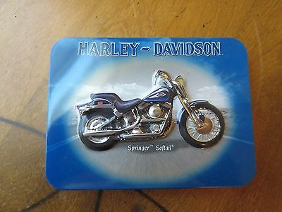 Harley Davidson Collectible Tin and 2 Decks Of Playing Cards