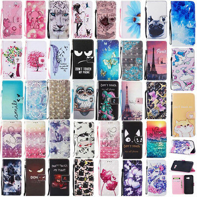 For Samsung Galaxy A3 A5 (2017) Flip Wallet PU Leather Magnetic Stand Case Cover
