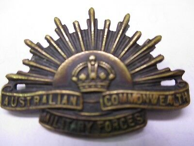Australian Commonwealth Military Forces Bronze Metal Pin