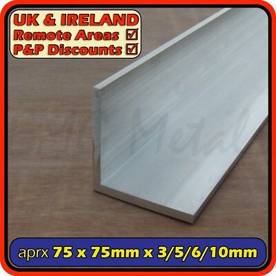 "Aluminium Angle (L section, edging, bracket) | 76x76mm (3"")(3mm 5mm 6mm 10mm)"