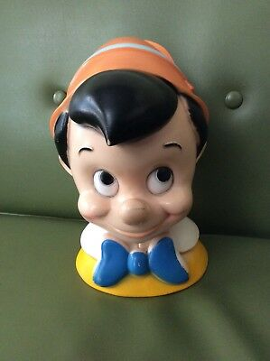 Vintage Walt Disney 1971 Pinocchio Head Bank