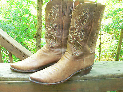 a267423e7f9 LUCCHESE 1883 GOAT Skin Cowboy Boots 12D