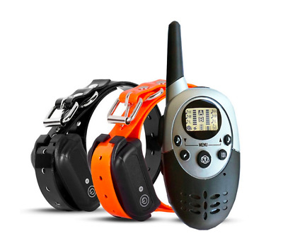 Dog Training Collar Pet Trainer Waterproof Remote Electric Shock Rechargeable