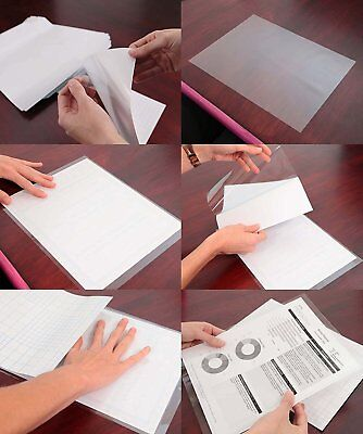 "25 Each Self Seal Adhesive Crystal Clear Glossy Laminate 6"" x 9"" Fits 5x7 Photos"