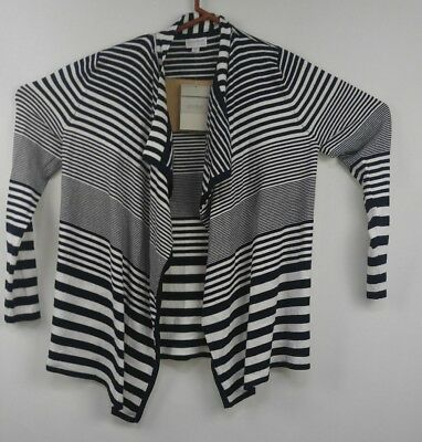 A PEA IN THE POD NAVY STRIPED OPEN FRONT Pre Pregnancy  MATERNITY CARDIGAN Sz M
