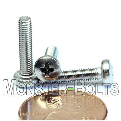 M3 x 14mm  Stainless Steel Phillips Pan Head Machine Screws, Cross Recessed A2