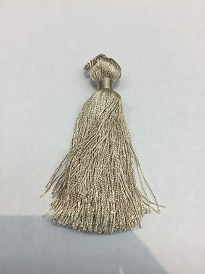 100 pieces simple Taupe Key tassel perfect for runners pillows keychains