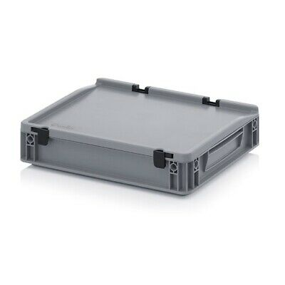 Transport Containers 40x30x9 with Lid Plastic Transport Case Box 400x300x90