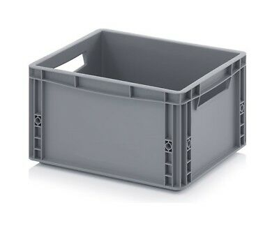 Plastic Container 40x30x22 Crate Transport Box Grey 20l