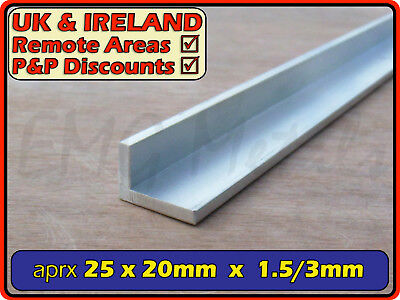 "Aluminium Angle (L section, edging, bracket, ally, alloy, trim) | 1"" x 3/4"""