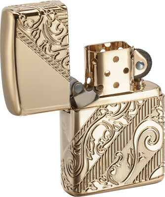 2018 Zippo Lighter Collectible of the Year Golden Scroll Windproof USA 03735