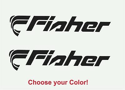 FISHER PONTOON BOAT Lettering Vinyl Decals Boat Stickers 2 pc set 5x24