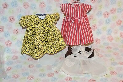 """Vintage Lot Of 2 Tagged Madame Alexander McGuffey Ana Doll Dresses For 15"""" Doll"""