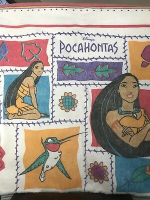 Vintage 90s Disney Pocahontas Blanket, Twin 70x80, With matching pillowcases
