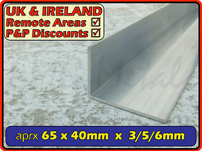 "Aluminium Angle (L section, edging, bracket, ally, alloy, trim) | 2.5"" x 1.5"""