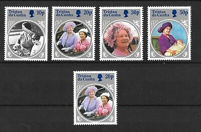 Tristan da Cunha 1985 Life and Times of Queen Mother Sg390-393 see note  MNH/UMM