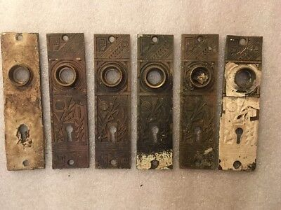 Lot #368 Cast Brass Back Plates Victorian Hardware