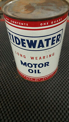 Vintage Tidewater oil can FULL