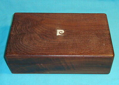 "Vintage Humidor Hard Wood Tight Seal Box 10"" X 6"" X 3"" high"