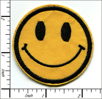 30 Pcs Embroidered Iron on patches Smiley Face Ice Cream AP055sA