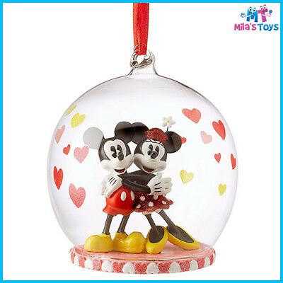 Disney Mickey and Minnie Mouse Glass Globe Sketchbook Ornament