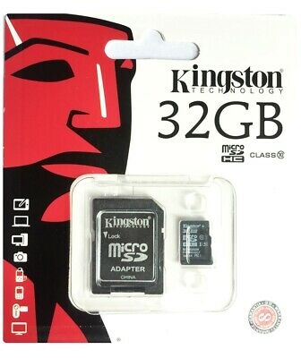 80MB /s Kingston Memory Card with Adapter SDXC Class10 32GB SDHC Micro SD UHS-I