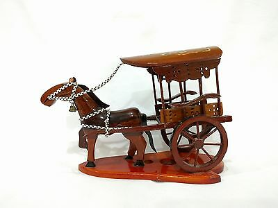Wooden Prosperity Horse Handcrafted Carved Statue