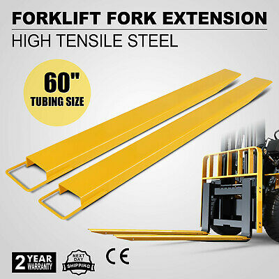 "60 x5.9"" Forklift Pallet Fork Extension Pair High Tensile Lift Truck Lift"