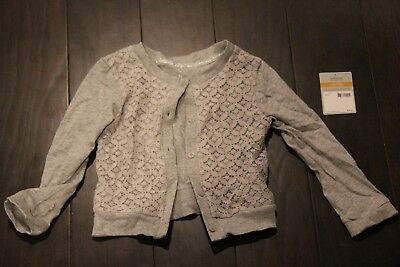 Carters - Girls Gray Floral Cardigan - Size 3T - NEW
