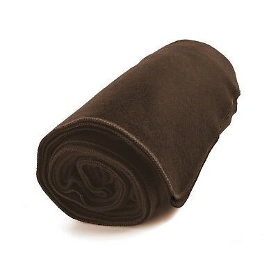 "EKTOS 80% Wool Blanket 3.7 lbs Large Washable 66""x90"" Size Dark Brown"
