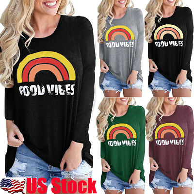 Fashion Women Ladies Summer Long Sleeve Loose T-Shirt Casual Blouse Shirt Tops