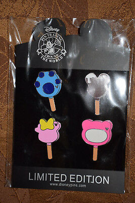 Disney 4 pc Pin lot ICE CREAM BARS Stitch Minnie Mickey Lotso CUTE!! NEW