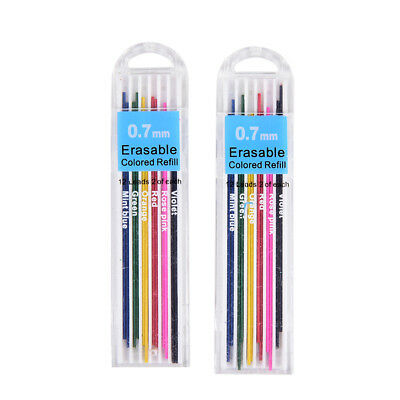 5Boxes 0.7mm Colored Mechanical Pencils Refill Lead Erasable Student RS