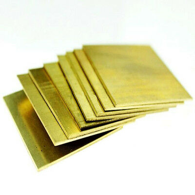 H62 Brass Copper Flat Stock Sheets Thick 0.5-3mm 50*100 100*100 100*200mm UK