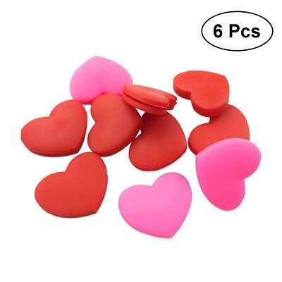 6 PCS/ Pack Silicone Tennis Vibration Dampeners Heart Tennis Dampers for Players
