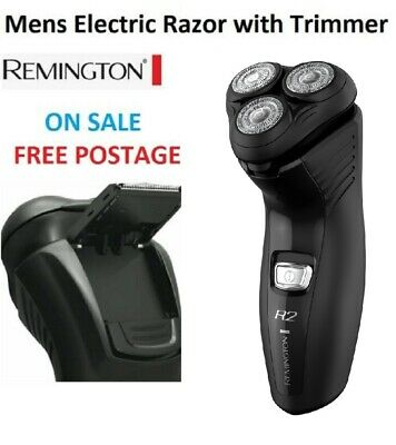 Remington Mens Electric Shaver Precision Shaver with Pop Up Hair Trimmer Groomer