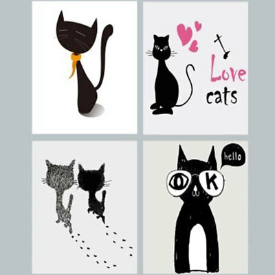 Cat Picture Simple Modern Canvas Oil Painting Wall Art Pictures For Living Room