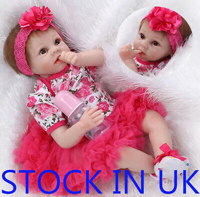 "Real Life Like 22"" Sleeping Reborn Doll Baby Soft Newborn Dolls Kids Xmas Gift"