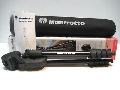 "Manfrotto Aluminum 60"" Tripod Compact Action Black MKCOMPACTACN-BK"
