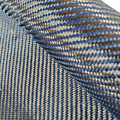 Blue Aramid Carbon Fiber Blended Fabric 240gsm mixed faber cloth 100cmWidth