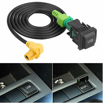 Car USB Switch + Aux Input Cable Wire For VW Golf MK6 Jetta RCD510 RCD310 MK5