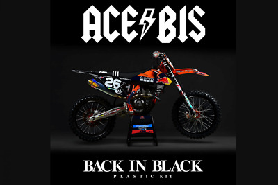 Ktm Exc Excf 17-19 Acerbis Back In Black Troy Lee Full Plastic Kit