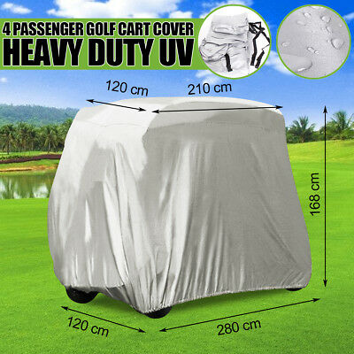 110'' Silver Golf Cart Cover  4 Passenger For Yamaha EZ-GO Club Car Storage AU
